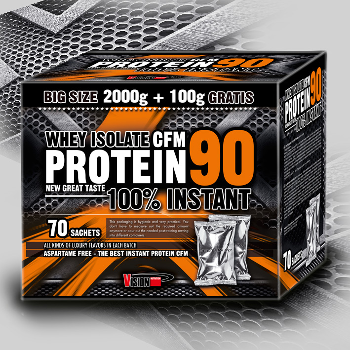 WHEY ISOLATE CFM PROTEIN 90 (70 sachets)