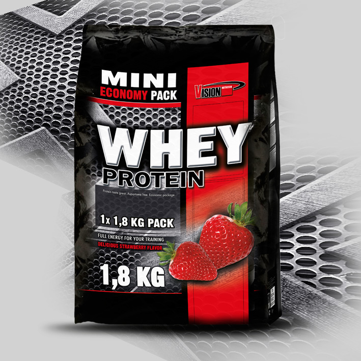 WHEY PROTEIN strawberry (1,8 kg)
